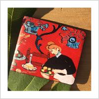 蒙马特大街艺术钱包油画钱包卡包超薄票夹生活中的艺术史礼品