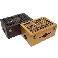 实木无线路由器箱遮挡箱收纳盒壁挂装饰盒实木木盒
