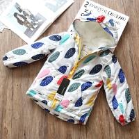 冬款女童加厚加绒棉衣 儿童宝宝保暖拉链棉袄 100cm 衣标3-4