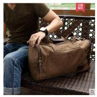 休闲帆布手提包男单肩背包男士包潮旅行包大容量行李袋旅游