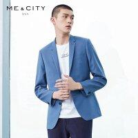 【2件2.5到手价:235】MECITY男装时尚羊毛西装外套西服时尚