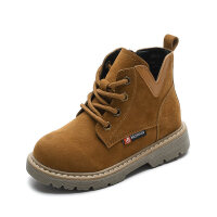 女童靴子冬秋�窝�2018新款英���和��R丁靴男童短靴雪地����女童鞋 26 �乳L16.2cm