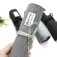 韩国简约笔袋文具盒女创意大容量卷笔帘男生初中学生小学生铅笔盒