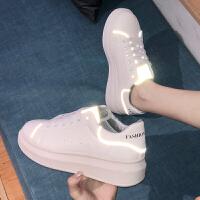 松糕鞋 女士韩版厚底时尚松糕鞋2020新款女式学生运动板鞋小白鞋女鞋子