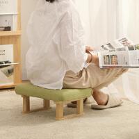 凳子家用创意成人沙发凳时尚矮凳实木方凳布艺客厅换鞋凳小板凳