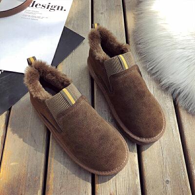 雪地靴女一脚蹬2018新款冬季韩版百搭加绒网红平底棉鞋情侣豆豆鞋   走进大自然的怀抱,美丽从这里起步。