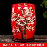 景德镇陶瓷米缸家用50斤米桶带盖密封防虫防潮水缸30斤储米箱大号