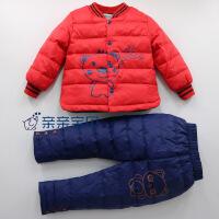 白鸭绒1男女宝宝羽绒服内胆套装2男童3女童轻薄婴儿幼儿童冬装4岁