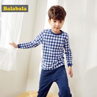 巴拉巴拉儿童睡衣男孩秋冬男童家居服套装中大童长袖保暖加厚加绒