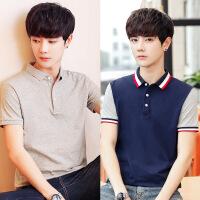 男士POLO衫夏季短袖T恤 韩版潮流商务休闲纯色保罗衫翻领半袖体恤