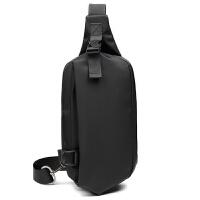 胸包男潮牌小包包斜挎包运动休闲包帆布背包韩版单肩男士腰包黑色