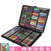 168件儿童画笔套装礼盒小学生幼儿园水彩笔套装可水洗无毒画画笔