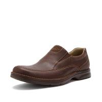 Clarks其乐男鞋真皮套脚舒适商务休闲鞋Senner Lane专柜正品