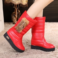 2018秋冬季新款女童靴子大童雪地靴中学生中筒靴儿童防水加绒棉靴