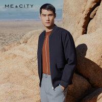 【2件2折�r:99.8】MECITY男�b春季新款撞色�l�L袖毛衫羊毛衫