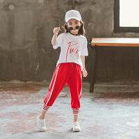 女童运动套装夏装儿童夏季时尚洋气两件套中大童韩版童装