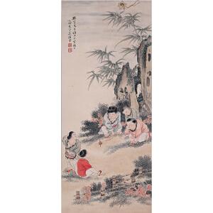 中国美术家协会会员、画家    吴光宇《婴戏图》
