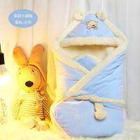 新生儿抱被初生婴儿包被宝宝抱毯秋冬加厚外出保暖用品两用珊瑚绒