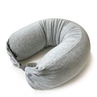 0725102635208泰国天然乳胶颗粒U型护颈枕头U形午休趴睡枕颈椎U枕飞机旅行靠枕