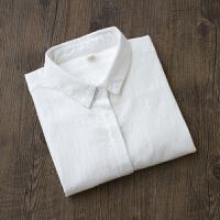 2018春季新款韩国文艺白衬衫女士纯棉打底衫内搭衬衣长袖褶皱