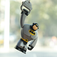 Mr Hero汽车后视镜挂件蝙蝠侠卡通车挂拉环公仔潮流超人摆件车饰 2.5寸公仔蝙蝠侠 送挂链