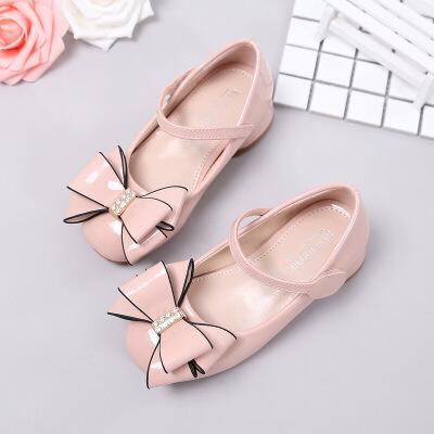 女童皮鞋2019春季新款儿童表演鞋女韩版小女孩的公主鞋高跟鞋单鞋潮
