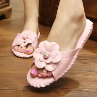 夏季韩国简约居家卧室软底木地板静音皮拖鞋室内家居凉拖鞋女