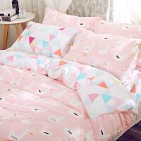 儿童幼儿园纯棉被套1.2m床上用品 学生宿舍单人床单1.5米三件套