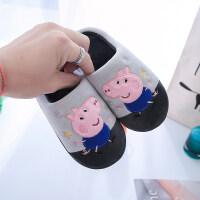 儿童棉拖鞋女包跟冬天可爱1-3岁男童宝宝保暖软底防滑秋