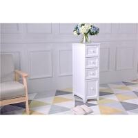 实木缝隙收纳柜卫生间夹缝窄柜防水20cm25cm冰箱边柜浴室厨房柜子 1个