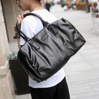2017男士旅行包商务休闲软皮男包大容量单肩手提包斜跨包潮流 图片色