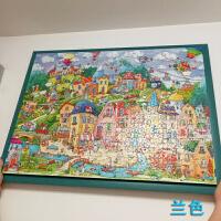 家居生活用品1000片拼�D框雷�Z瓦拼�D框�b裱300片500片立�w2000片框 �{色 �框4.3cm