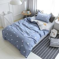 学生宿舍1.2米床三件套0.9m寝室单人床1.5米纯棉被套床单套件 ( 学生三件套+被芯+枕芯 )
