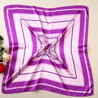 紫色条纹小方巾空姐银行大酒店员工作装制服女短款职业丝巾60CM{}xx 31号色