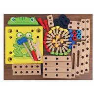 鲁班椅子多功能拆装工具螺母丝组装组合儿童益智拼装木制积木玩具0