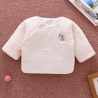 新生儿棉衣半背衣秋季0-3个月1和尚服上衣婴儿衣服秋冬加厚秋