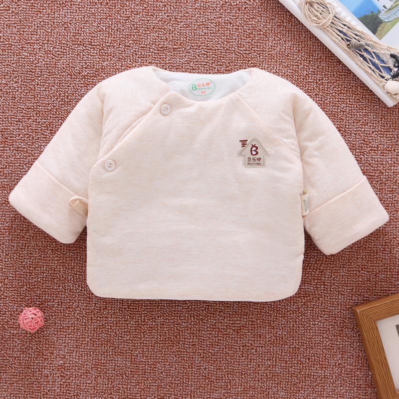 新生儿棉衣半背衣秋季0-3个月1和尚服上衣婴儿衣服秋冬加厚秋 发货周期:一般在付款后2-90天左右发货,具体发货时间请以与客服协商的时间为准