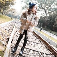 女童棉衣中长款2018新款冬装儿童韩版公主宝宝棉袄外套秋冬季