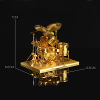3D立体模型拼图diy金属拼装乐器架子鼓 家居办公室摆件 精美创意