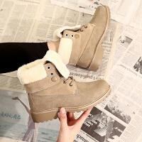 马丁靴 女士冬季加绒大码马丁靴2020新款女式低跟保暖女短靴子英伦风靴子女鞋子