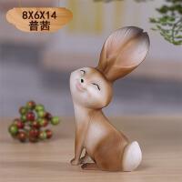 家居饰品客厅电视柜酒柜装饰品 可爱小摆件兔子