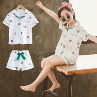 中大童装女童洋气夏装套装韩版时髦潮衣居家服儿童两件套