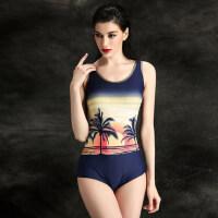 大码专业款女游泳衣三角保守泳衣连体舒适温泉泳衣小胸比基尼沙滩泳衣