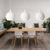 雷士照明 餐吊灯 现代简约镂空餐吊灯时尚圆形吧餐厅灯