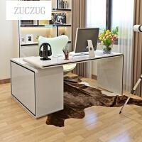 ZUCZUG时尚书桌台式电脑桌 家用卧室旋转转角烤漆书柜书架组合 否