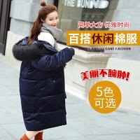 Freefeel2017冬季新款棉服女装中长款金丝绒面料韩版时尚休闲大衣