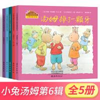 小兔汤姆系列绘本第六辑全5册小兔汤姆的成长烦恼图画书汤姆坐火车过六一堆雪人掉了一颗牙有了一只小狗 海燕出版社