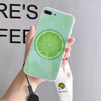 玻璃苹果x手机壳iPhonex苹果7plus手机壳iphone xs max高档壳xr女8p手机壳6 /s4.7 青柠