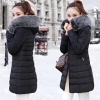 2018秋冬新款反季棉衣女中长款韩版修身加厚羽绒女外套
