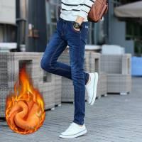 【温暖12促销 全场满减】施衣品实拍牛仔裤男装男士修身款长裤韩版加厚加绒黄金绒3037-1加绒